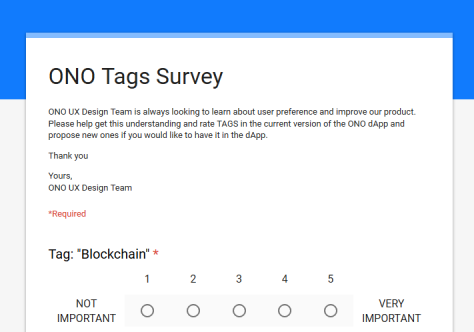ONO Tags Survey