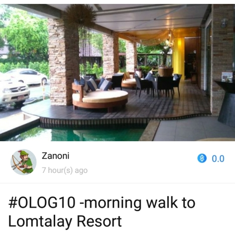 #OLOG10 -morning walk to Lomtalay Resort
