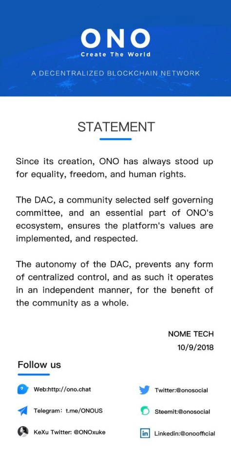 ONO -Decentralized Blockchain Network
